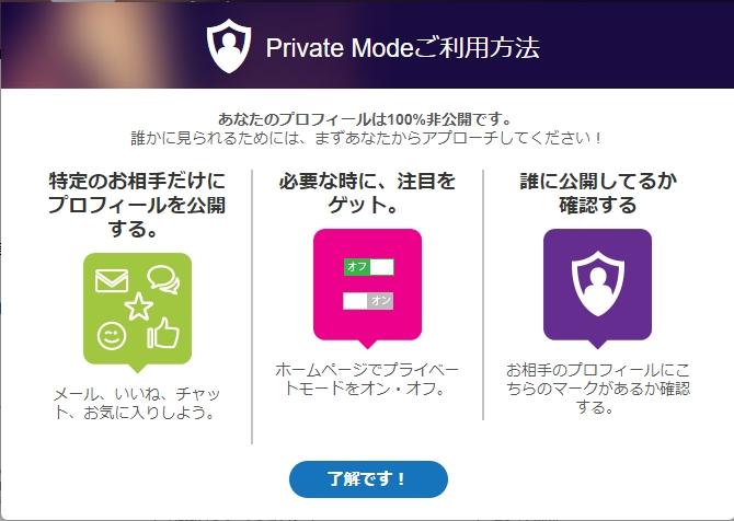 プライベートモード